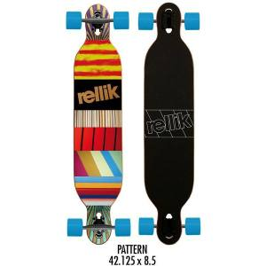 Rellik Skateboard Longboard Pattern Dropthrough Downhill 2015  42,125 x 8,5