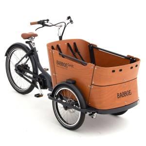 Babboe Curve Mountain Holz Lastenrad - Transportrad 2021 500 Wh Akku (Yamaha Mittelmotor) DISC (Scheibenbremsen)