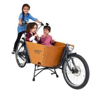 Babboe City Mountain Holz Lastenrad - Transportrad 2021 500 Wh (Yamaha Mittelmotor) DISC (Scheibenbremsen)