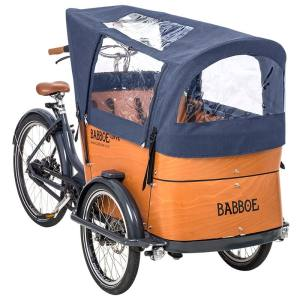 Babboe Regenverdeck Curve Docril Blau 2020  für Babboe Modell Curve